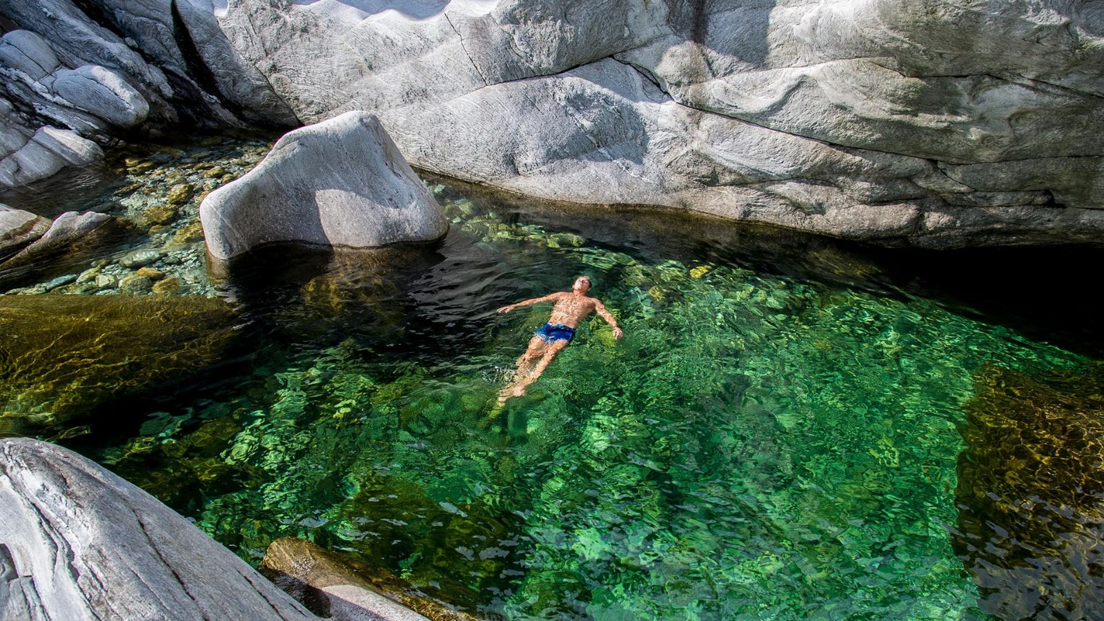 Swim in the Maggia river