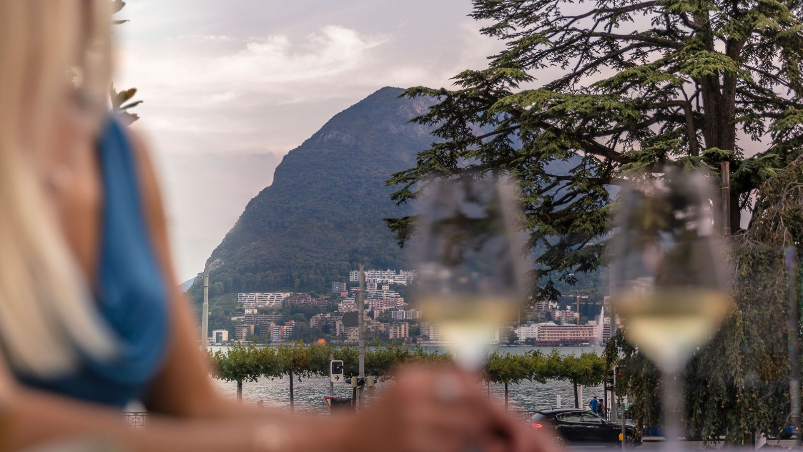 Aperitif with a view of Monte San Salvatore