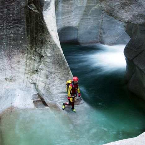 Canyoning, Valle Riviera