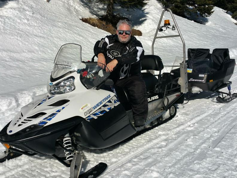 Image 0 - Sledge ride with snowmobile