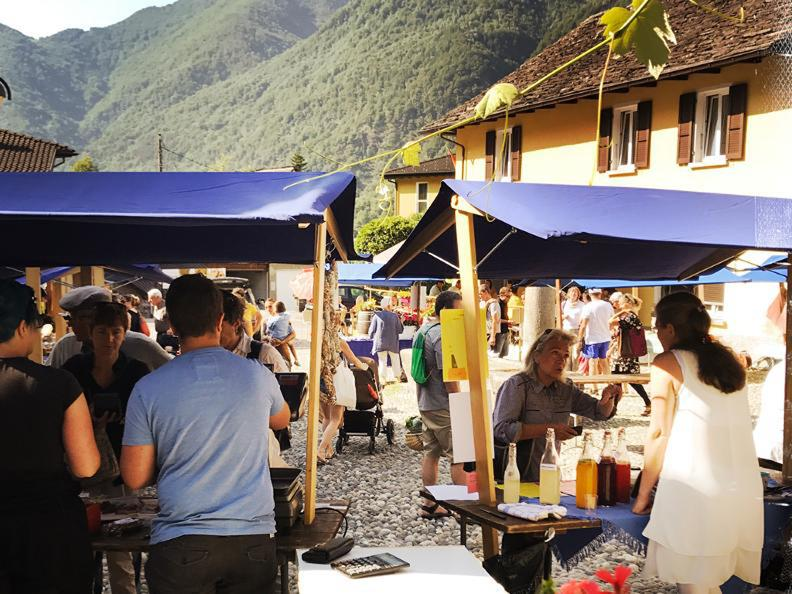 Image 1 - Alimentary market in the square of Maggia