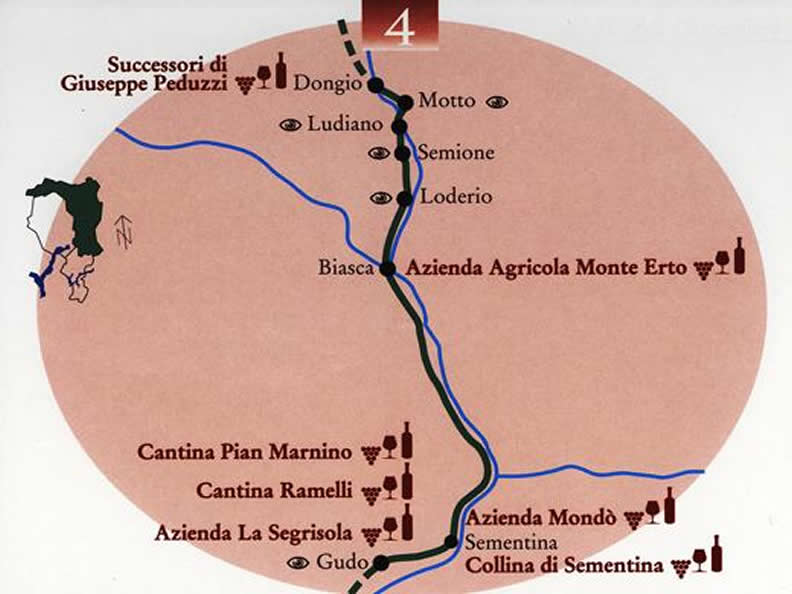 Image 0 - The wine road from the Magadino Plain to the Blenio valley
