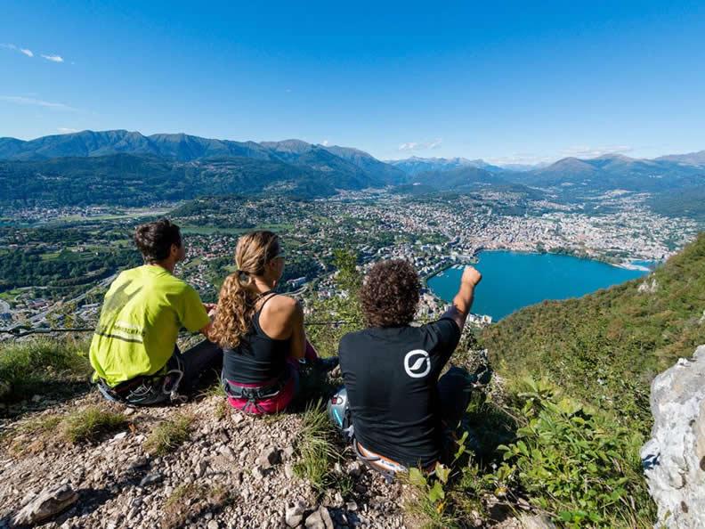 Klettersteig Tessin : San salvatore klettersteig ticino