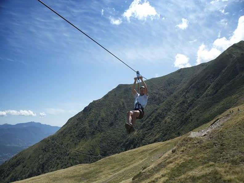 Image 1 - Tyrolienne auf der Alpe Foppa, Monte Tamaro