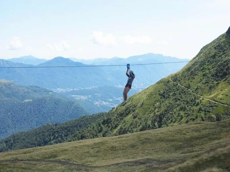 Image 2 - Tyrolienne auf der Alpe Foppa, Monte Tamaro