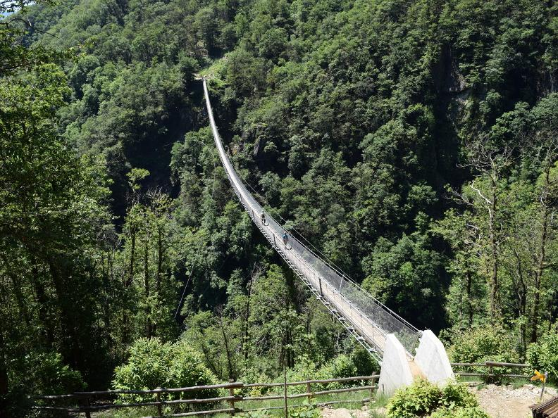 Image 19 - Curzùtt et le pont tibétain Carasc